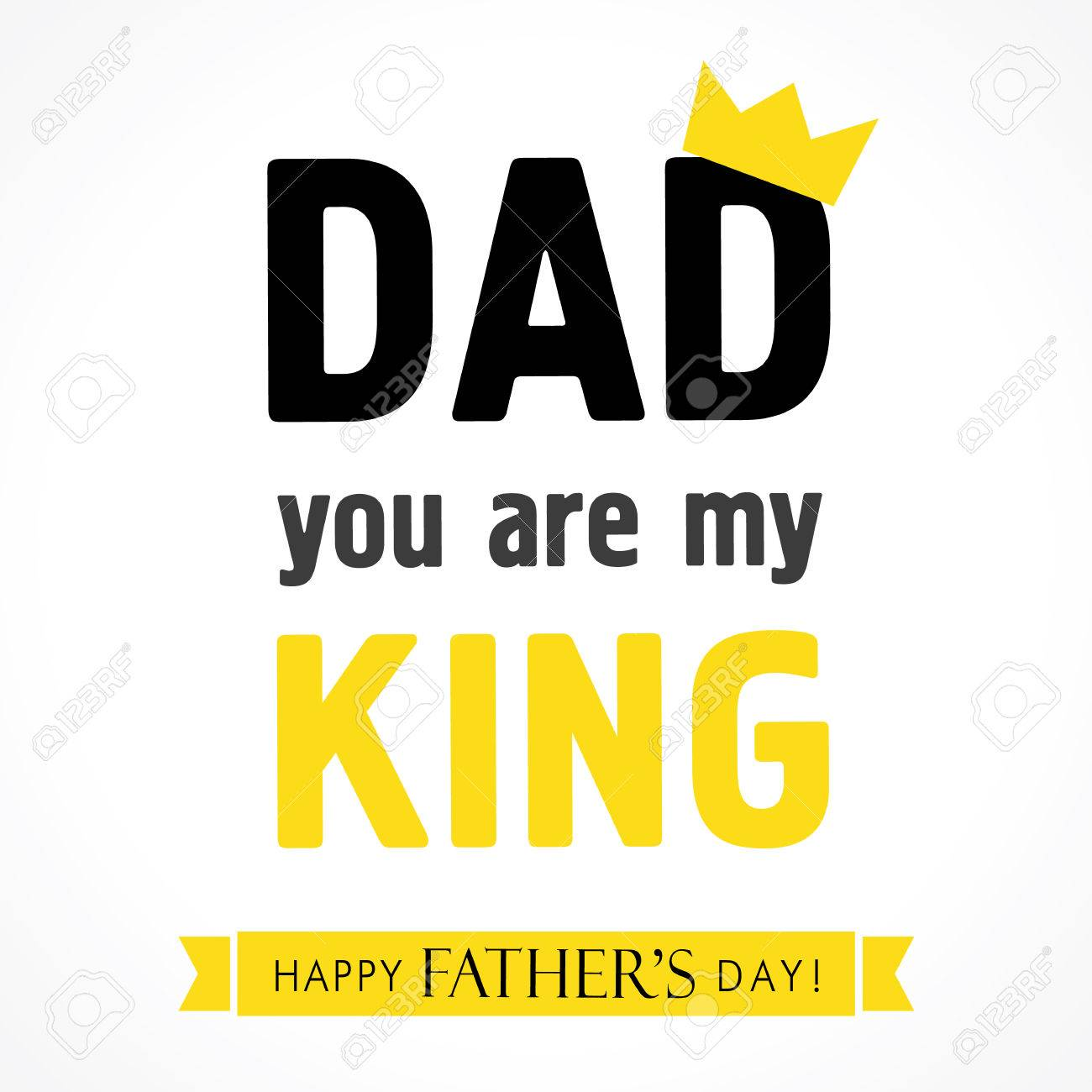 Dad You Are My King Happy Fathers Day Banner Happy Fathers Day Lettering Greeting