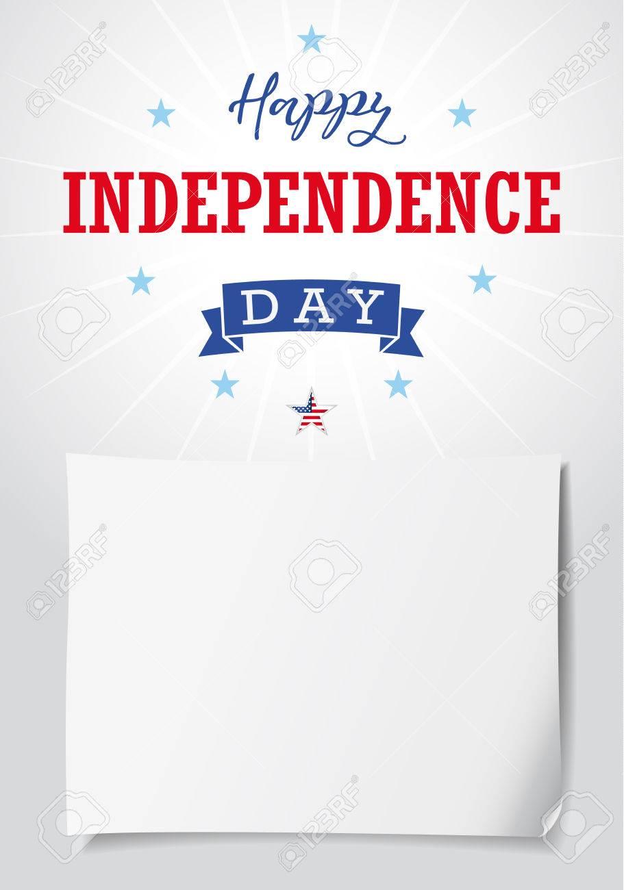 Glückliche Unabhängigkeitstag USA Banner Vorlage. Vereinigte Staaten ...