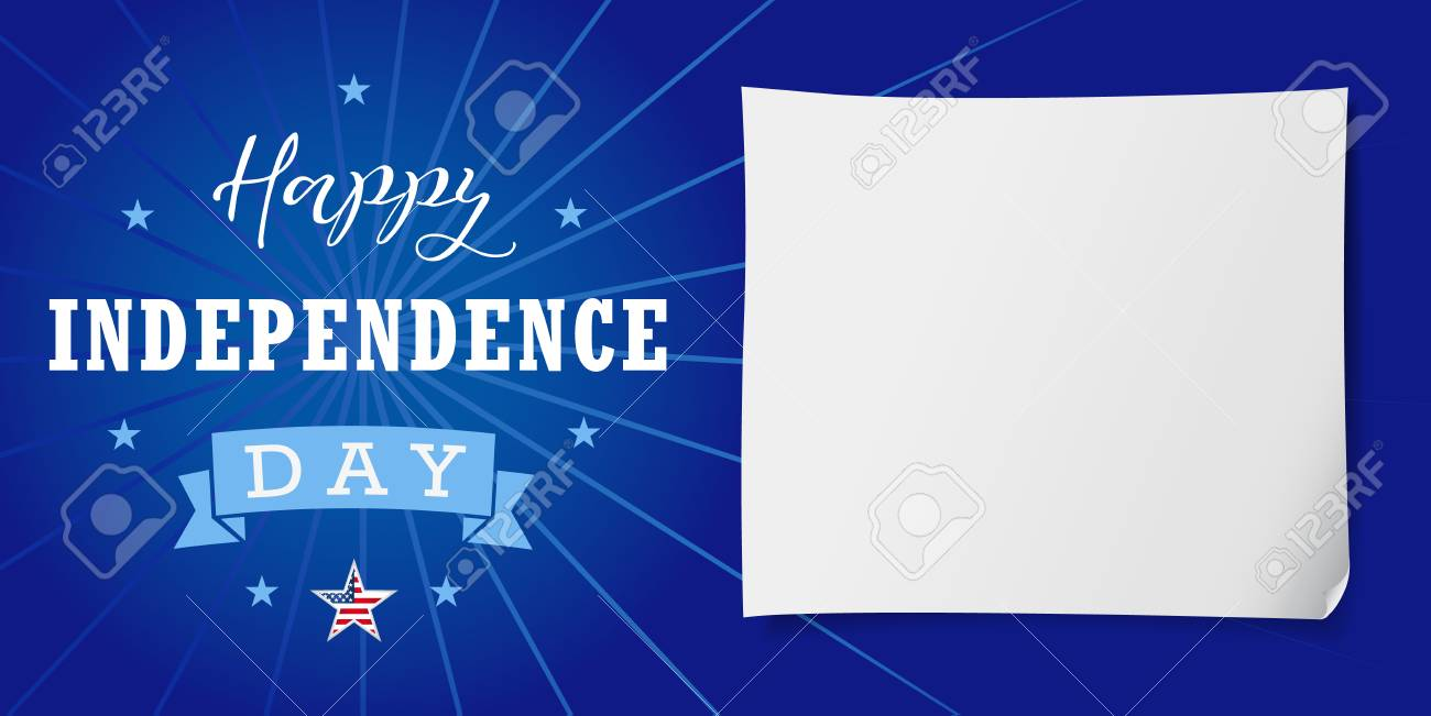 Happy Independence Day Usa Banner Template United States National