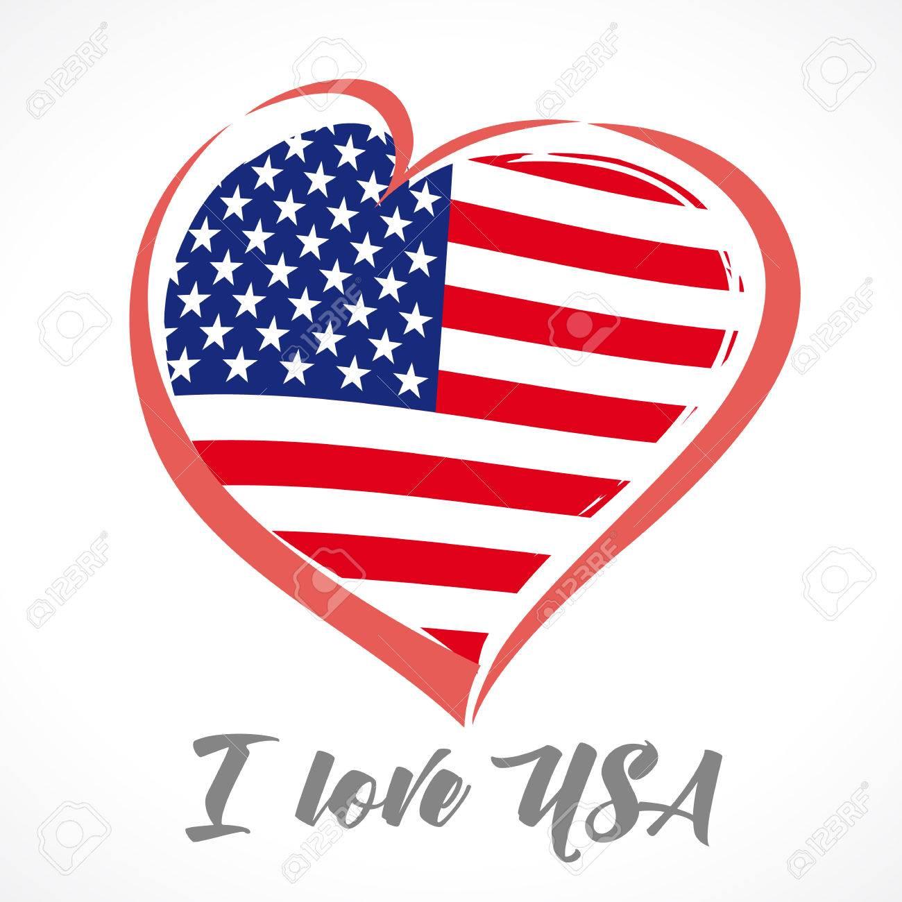 Ame Los EEUU, Emblema De América Coloreado. Feliz Día De La ...