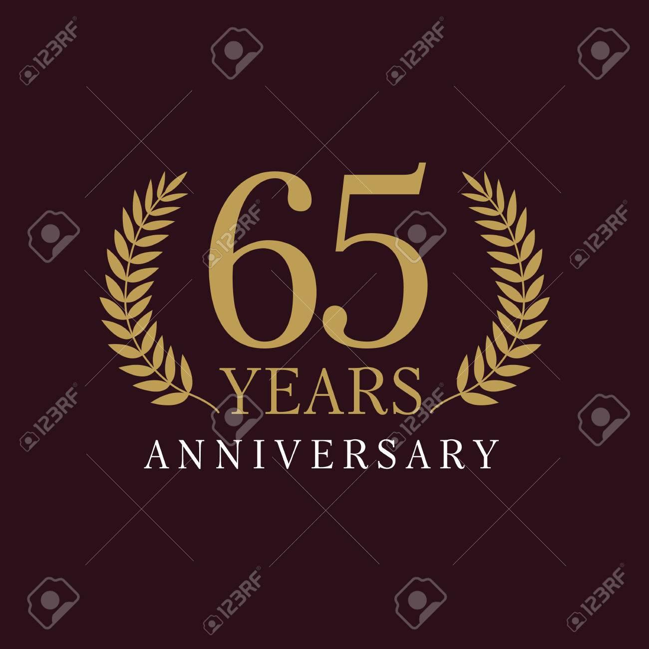 65 Jahre Alte Luxuriöse Zahlen. Herzlichen Glückwunsch 65. Vektor ...