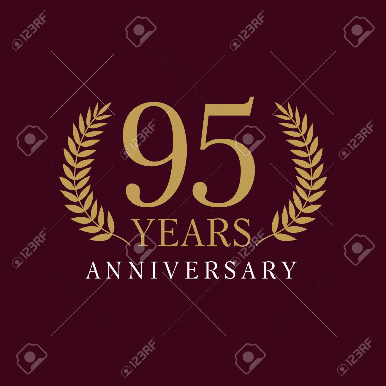 95 years old luxurious numbers congratulations 95th vector gold 95 years old luxurious numbers congratulations 95th vector gold colored template sign framed of palms pronofoot35fo Image collections