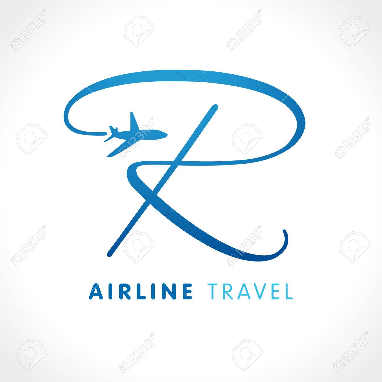 r letter travel company logo airline business travel logo design