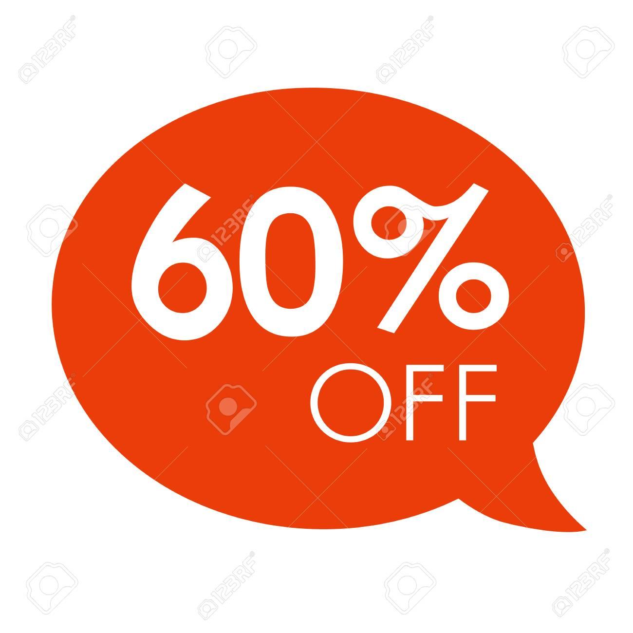 Oferta Especial 60% Venta Naranja Discurso Burbuja Etiqueta Vector  Ilustración. Etiqueta De Precio De Oferta De Descuento d7e6c49f8e4