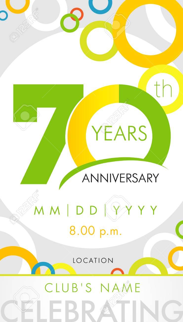 Carte D Invitation Anniversaire 70 Ans Concept De Modele De