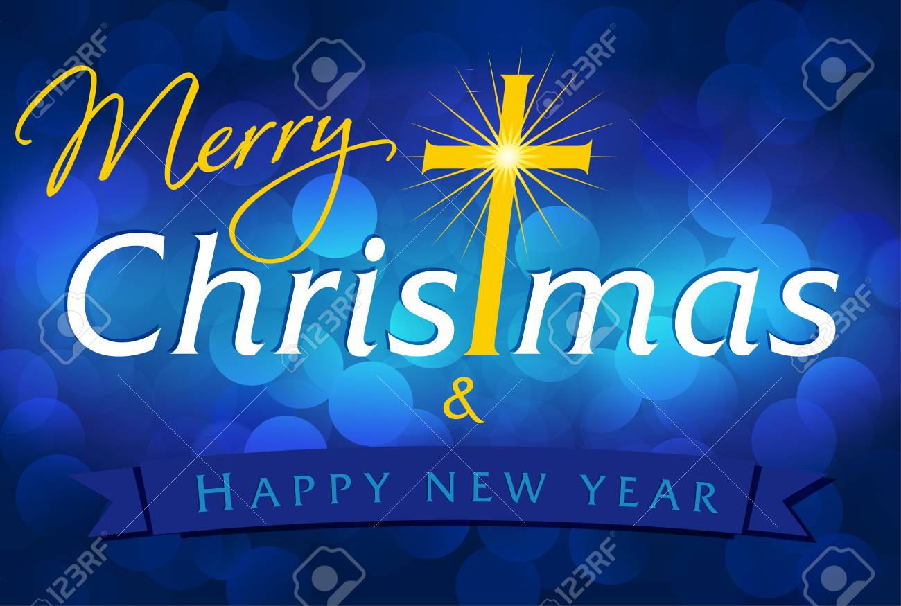 Merry Christmas A Happy New Year Greetings Celebrating