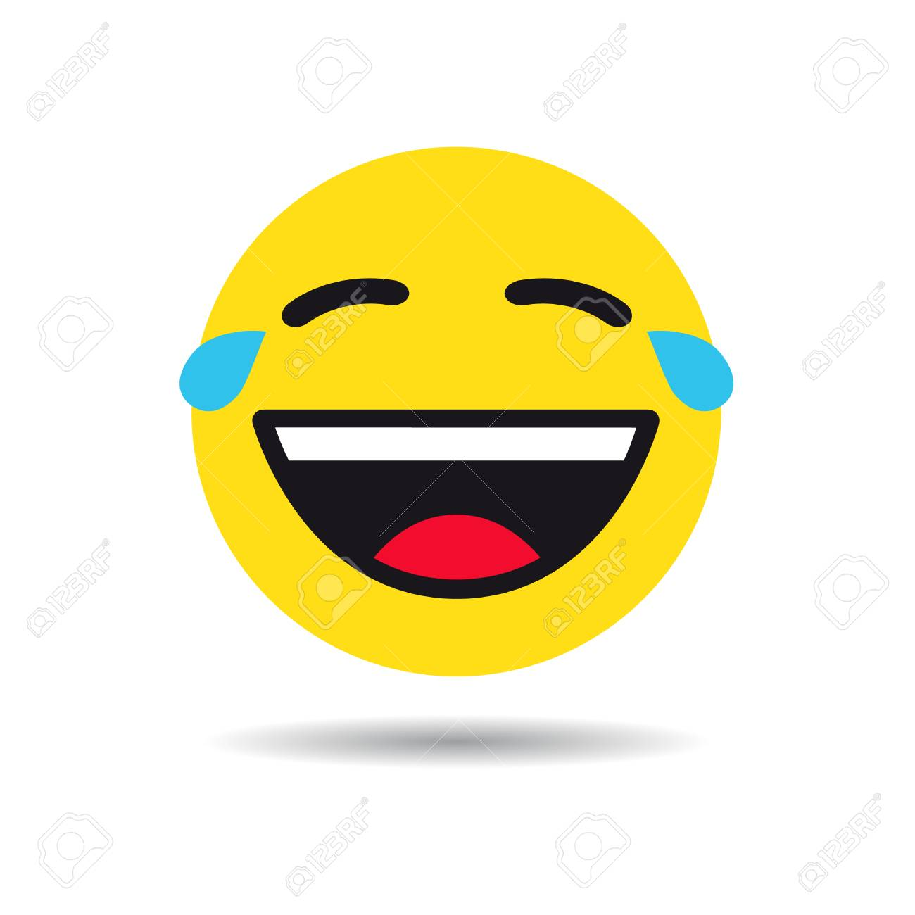 Funny emoticon or emoji symbol