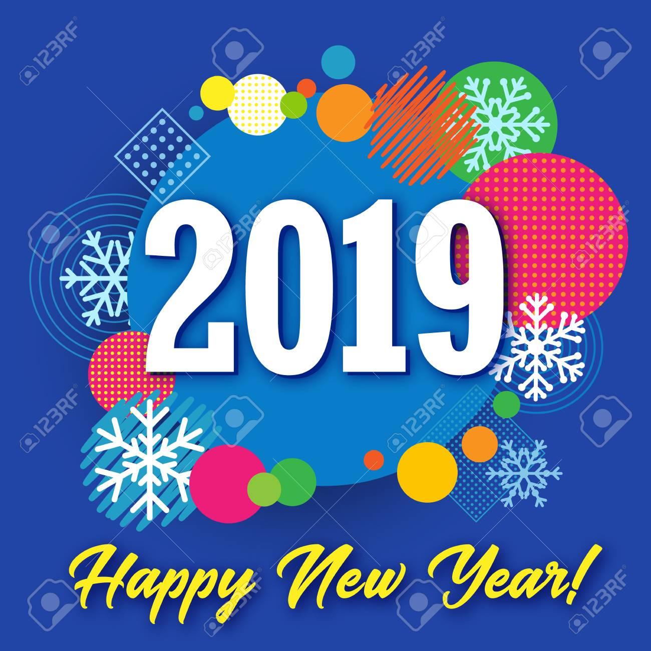 Brindemos en Navidad - Página 2 91414741-2019-feliz-a%C3%B1o-nuevo-banner-creativo-c%C3%ADrculo-de-colores-y-nieve-vector-feliz-a%C3%B1o-nuevo-saludo-ilustraci%C3%B3n-con-2