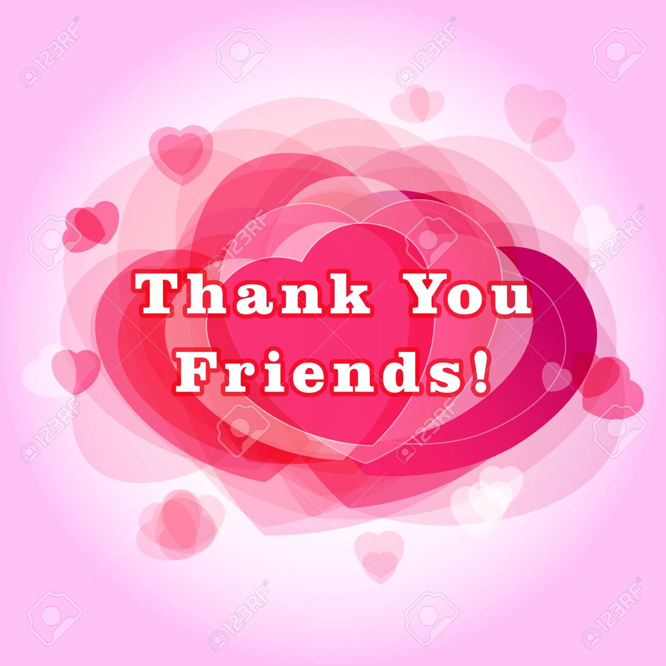 Thank You Friends Greeting Card The Gratitude Picture For Friends