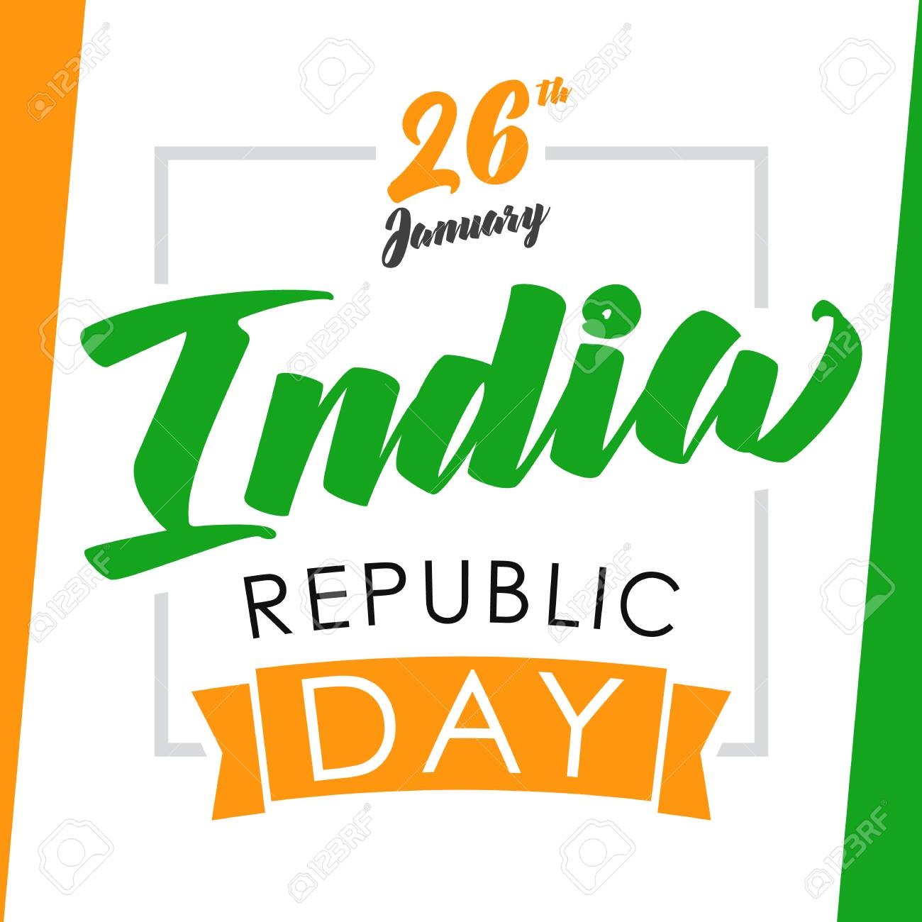 India republic day greeting card happy republic day lettering india republic day greeting card happy republic day lettering background design 26th january on m4hsunfo