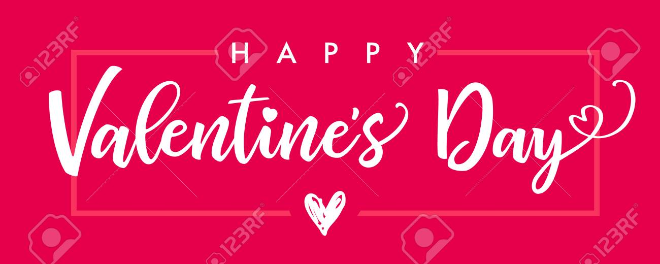 Lettering Happy Valentines Day Banner Pink Valentines Day Greeting Royalty Free Cliparts Vectors And Stock Illustration Image 93238849 Free valentines day clipart borders with red hearts png. lettering happy valentines day banner pink valentines day greeting