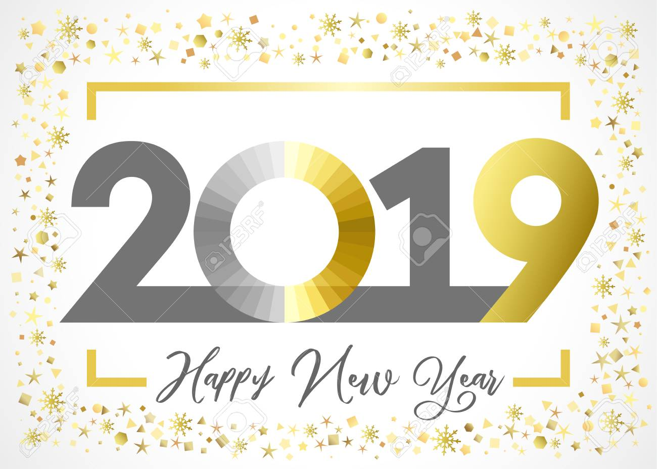 Image result for new year 2019 gold clipart