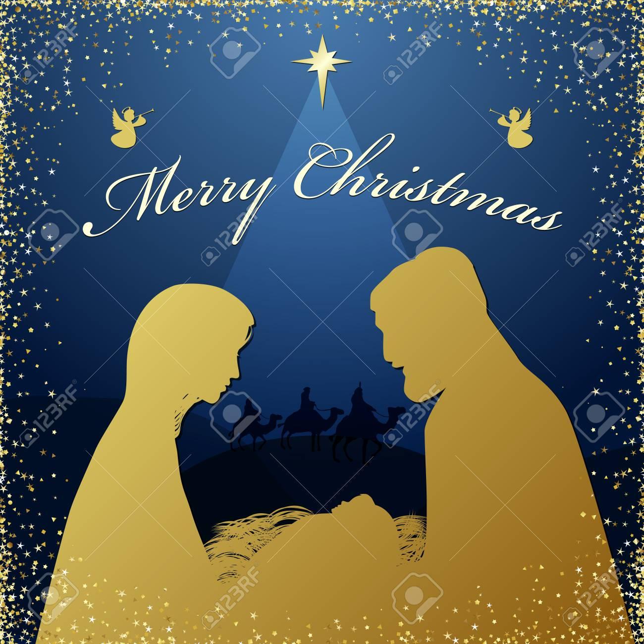 Christmas Religious.Merry Christmas Religious Greeting Son Of God Was Born Of Spiritual