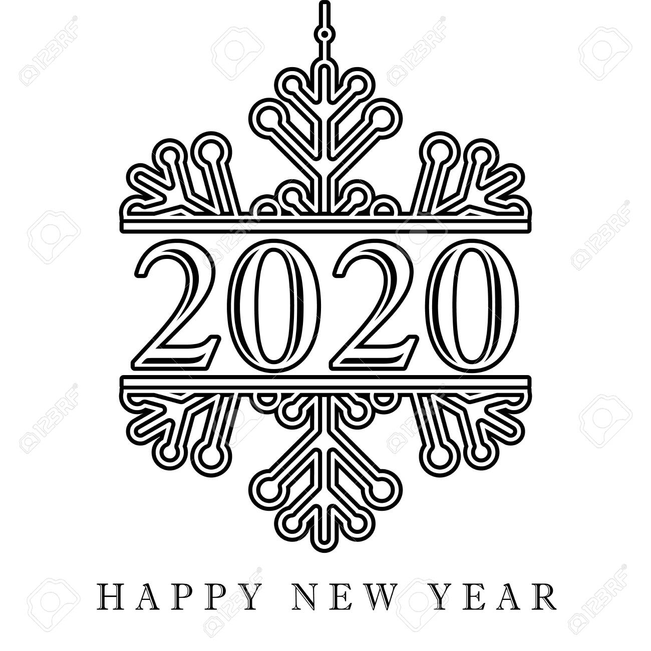 2020 black winter snow happy new year card lettering xmas greeting royalty free cliparts vectors and stock illustration image 129521196 2020 black winter snow happy new year card lettering xmas greeting