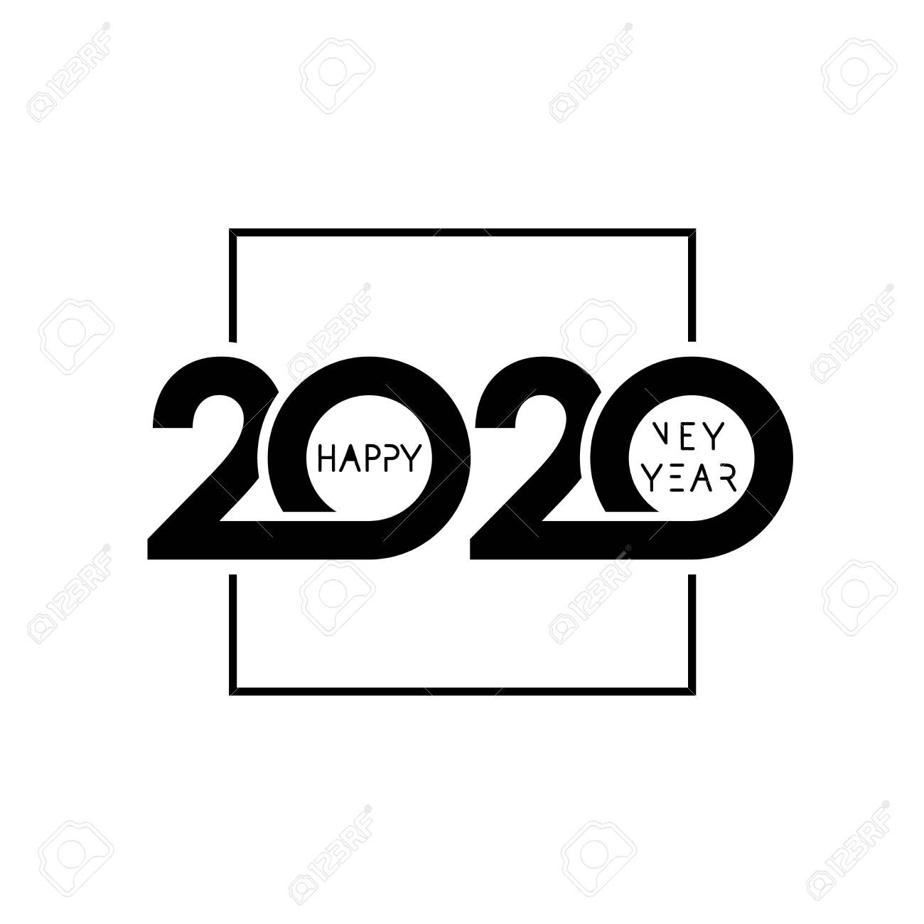 2020 happy new year design vector illustration with black holiday royalty free cliparts vectors and stock illustration image 129817972 2020 happy new year design vector illustration with black holiday