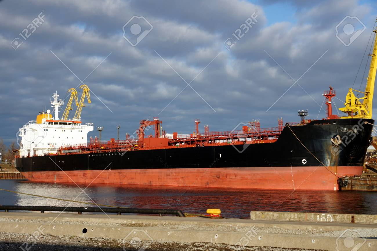 The tanker on a background of the sky and clouds Stock Photo - 12959626