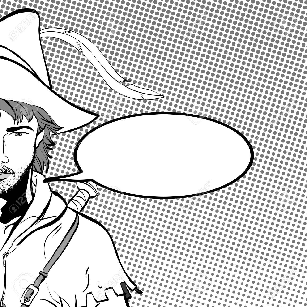 Robin Hood In Einem Hut Mit Feder Junger Soldat Edler Rauber
