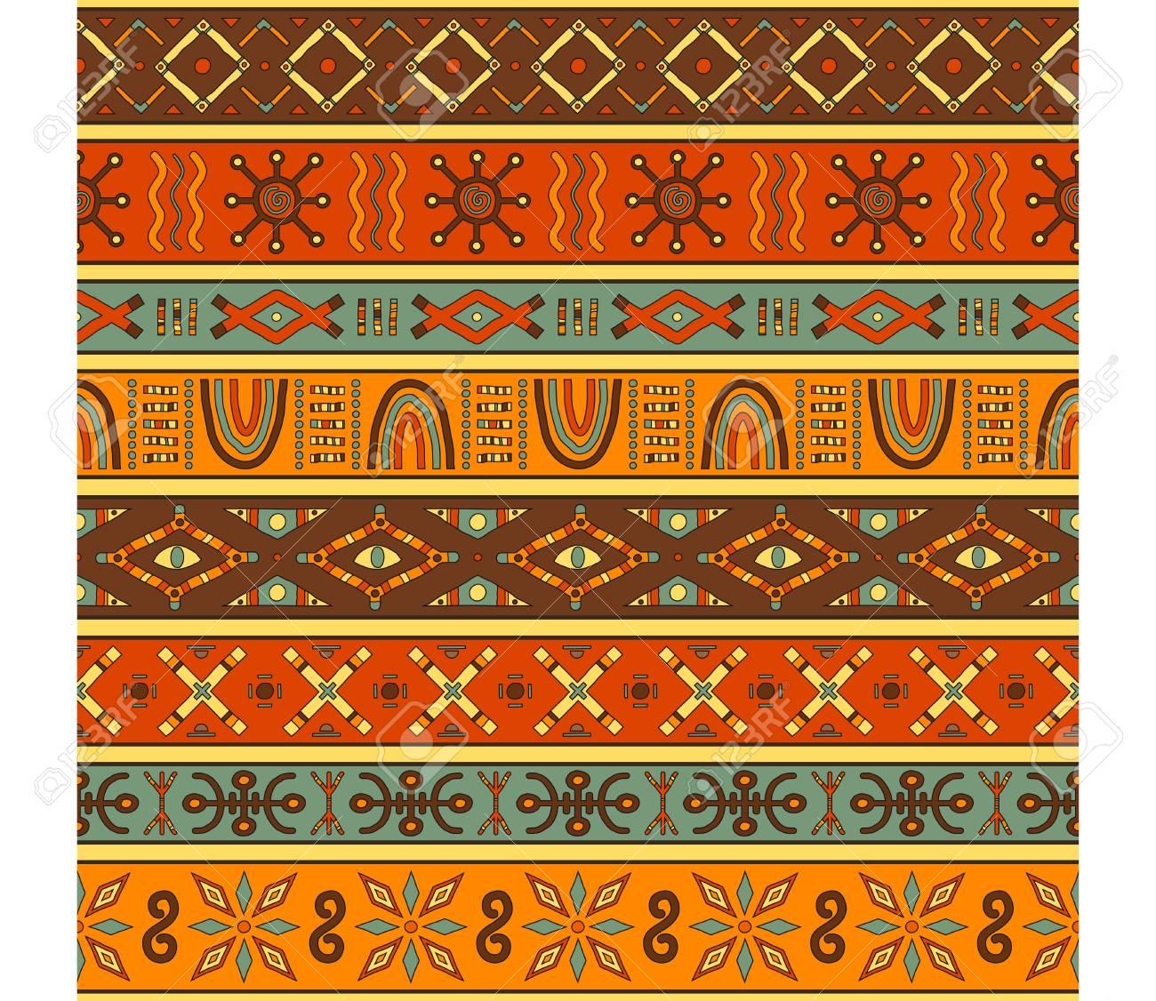 Nahtloses Muster Mit Afrikanischen Ethnischen 15
