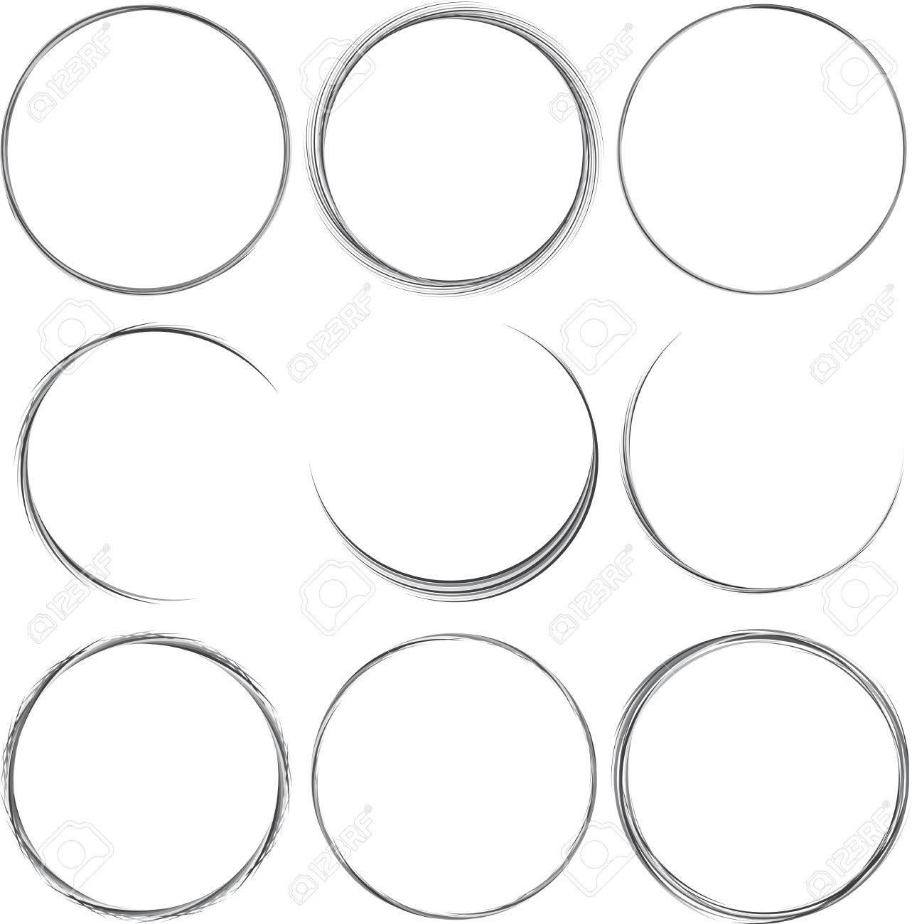 Set Of Round Elements For Design. Frame, Border. Royalty Free ...