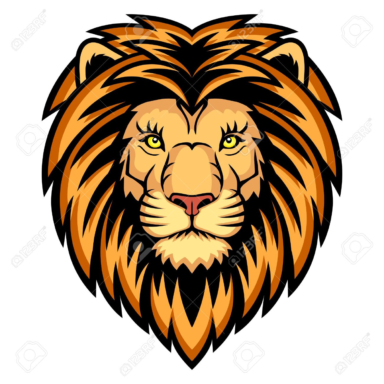 a lion head logo this is illustration ideal for a mascot and rh 123rf com lion head logo design lion head logo design