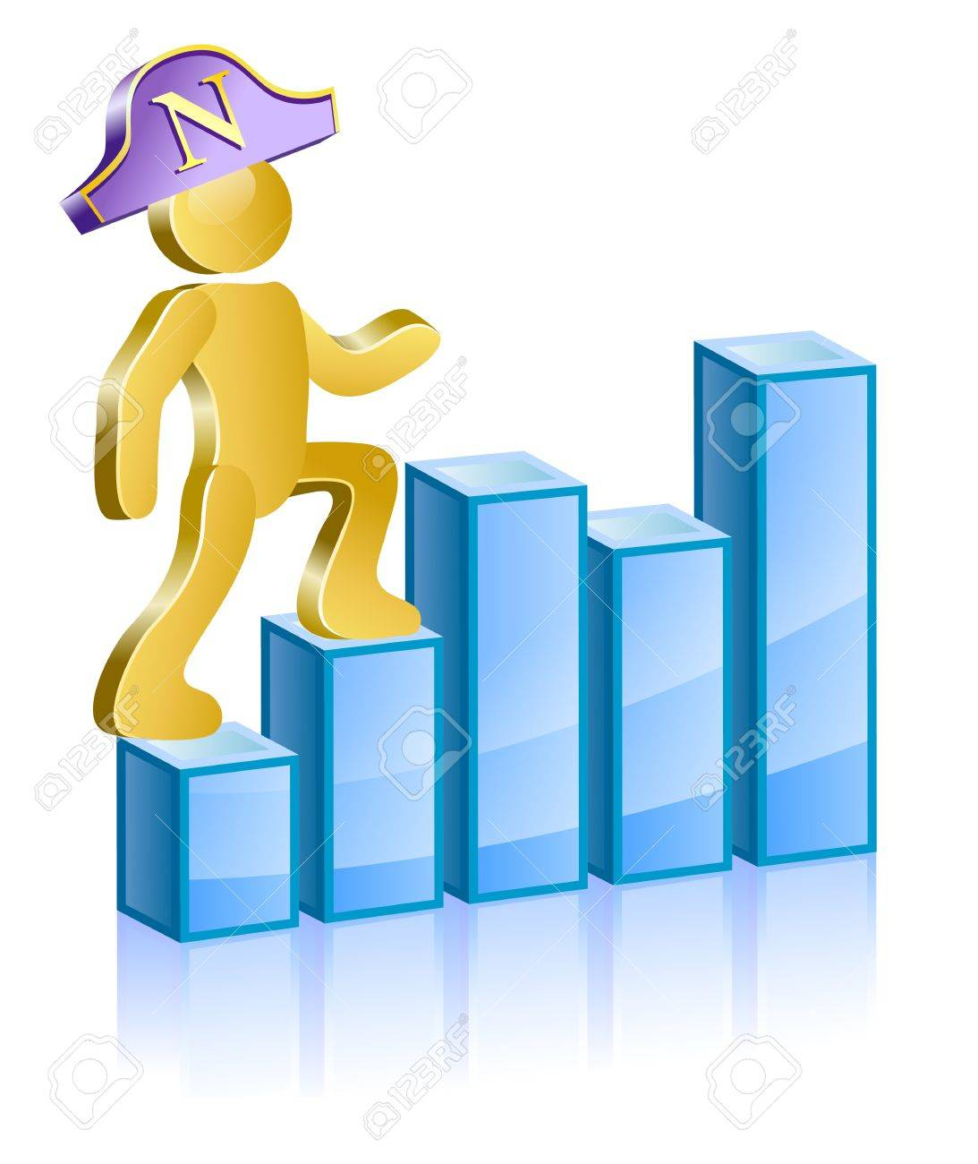 human in a suit napoleons moving up the ladder stock vector 17754737