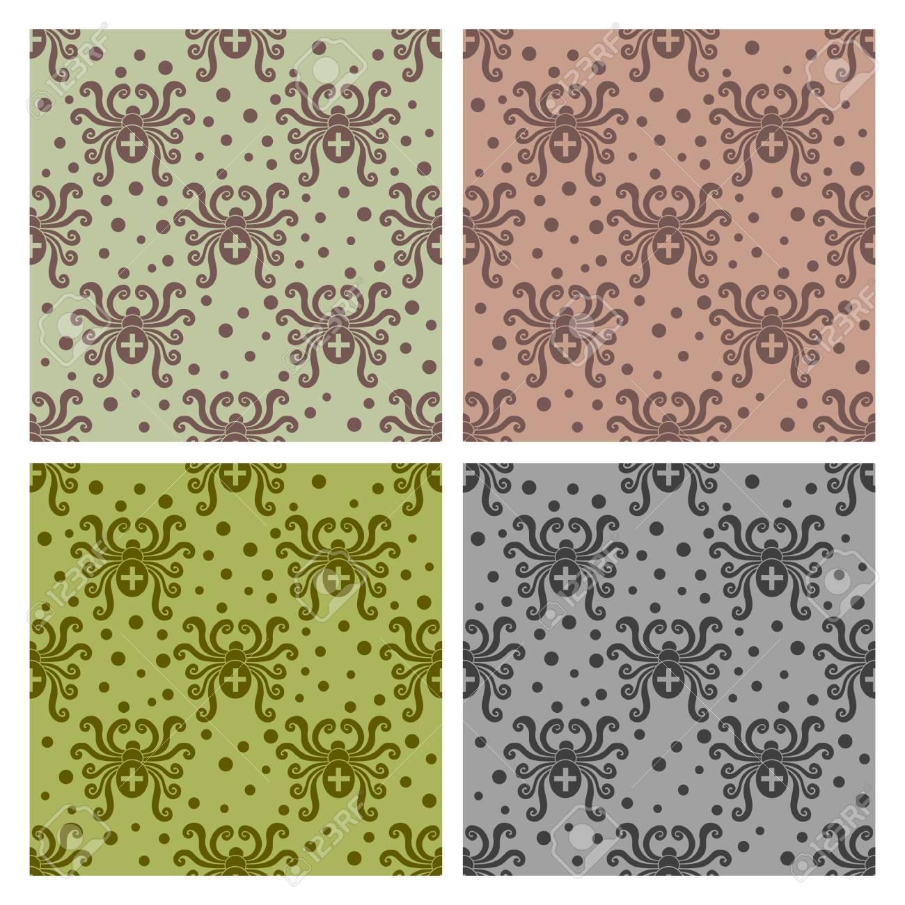 Abstract insect pattern. Spider style. Vector seamless. Stock Vector - 18676631
