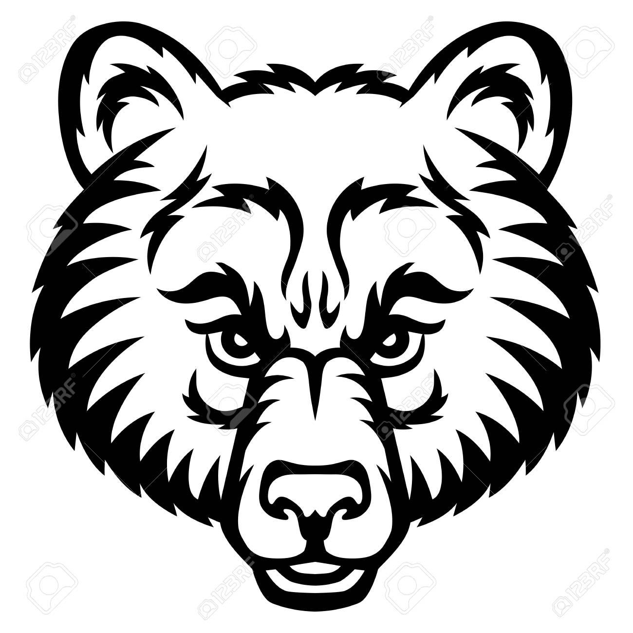 Un Logo De La Tete D Ours C Est Un Vecteur Ideal Pour Une
