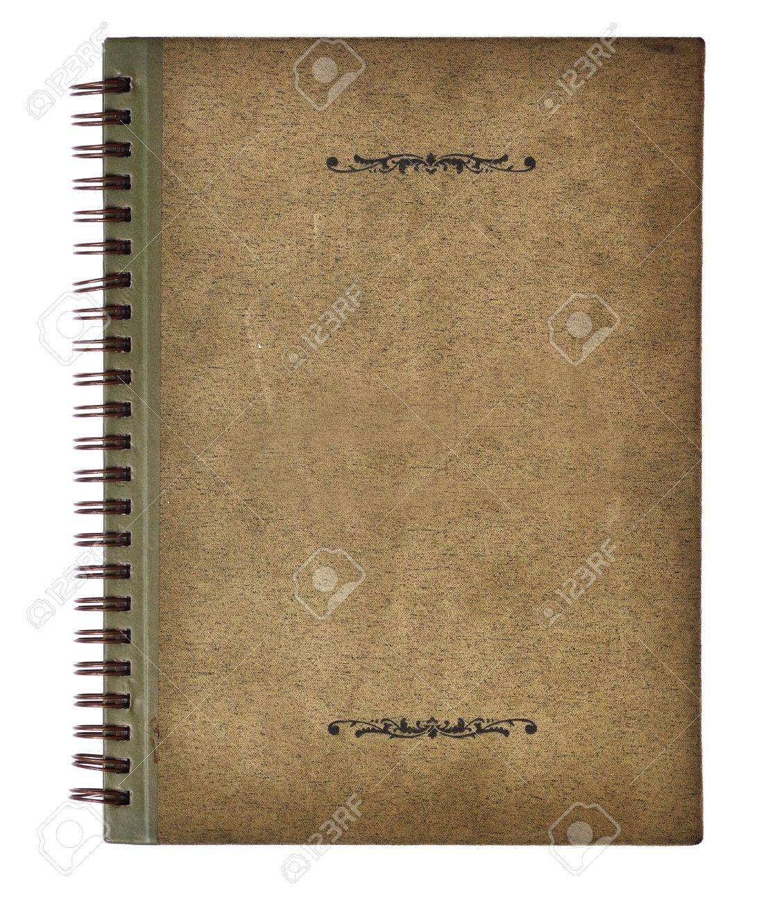 Old vintage notebook cover Stock Photo - 12135408