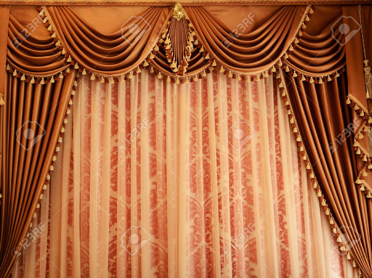 Royalty free or white curtain background drapes royalty free stock - Beautiful Vintage Curtain Background Stock Photo 13724087