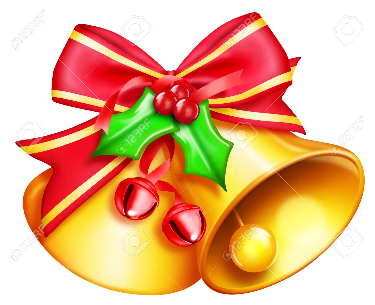 illustrated christmas bells stock photo 14963872 - Christmas Bell