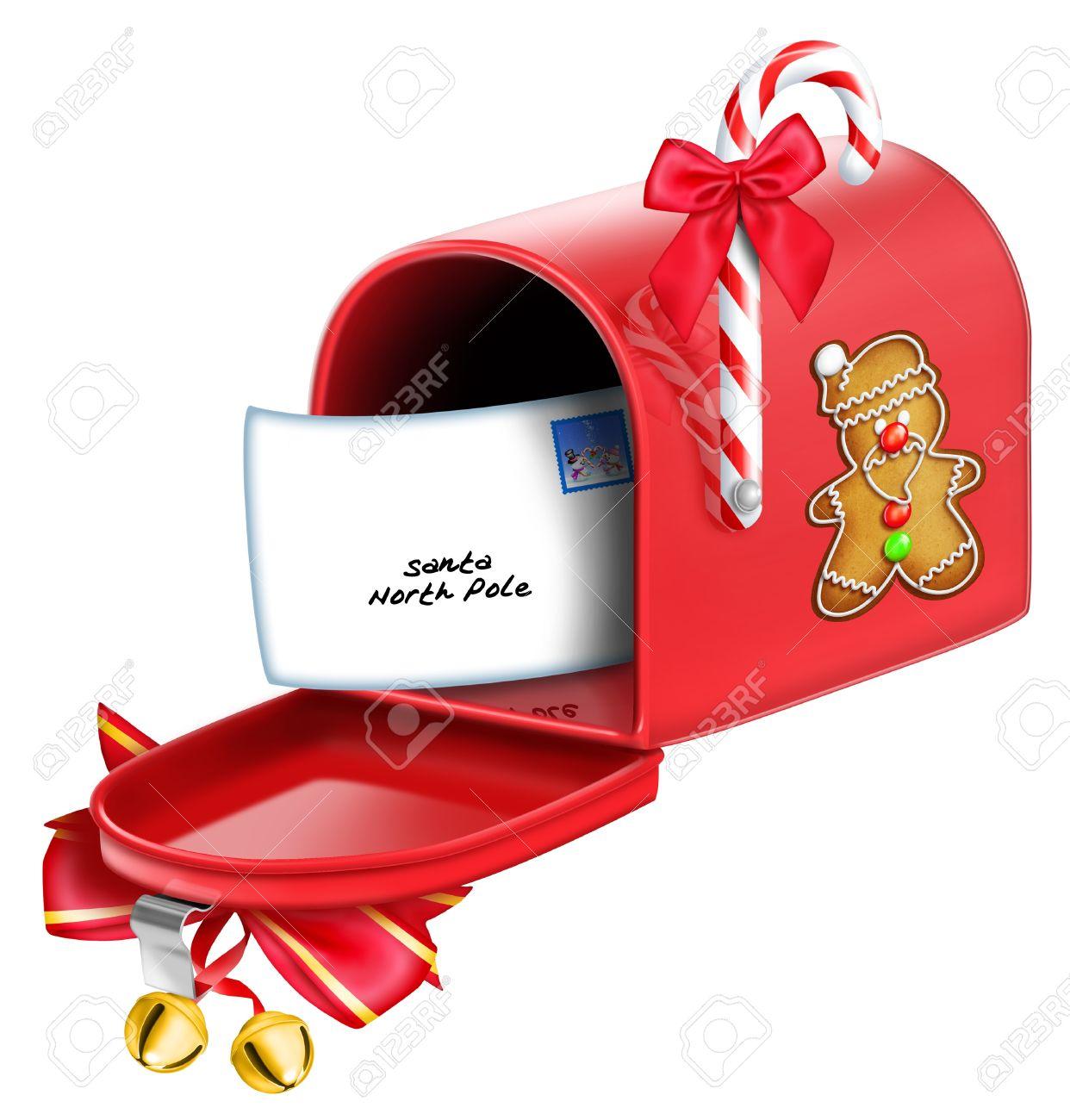 Christmas Mailbox.Whimsical Christmas Mailbox
