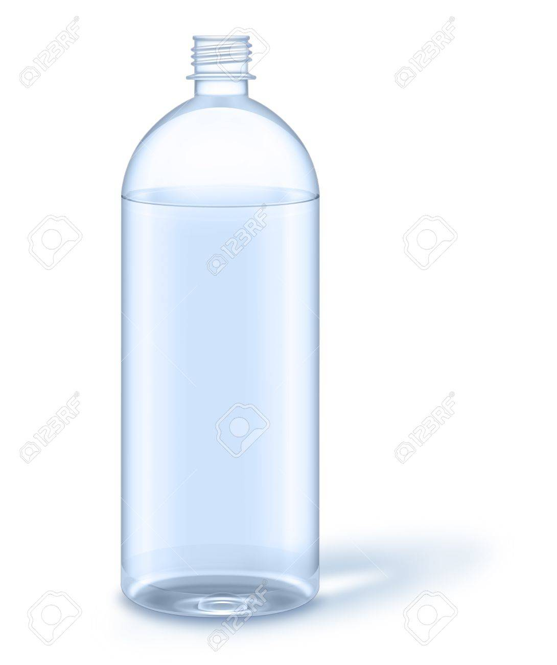 water bottle without label