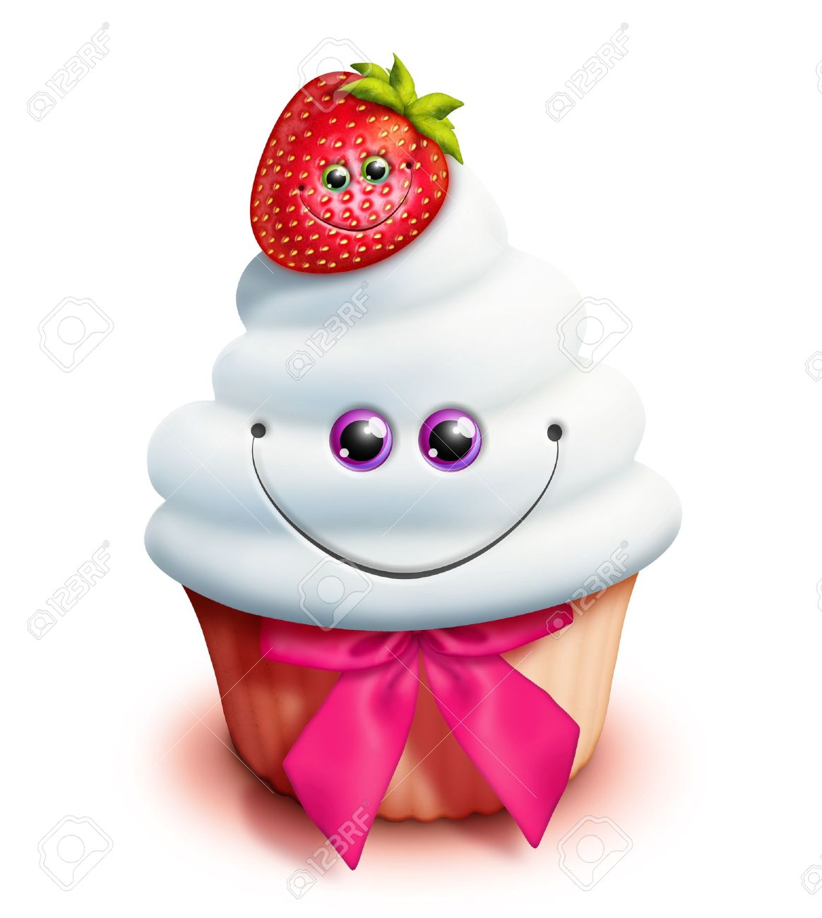Cool Kawaii Strawberry Cake Shape Cream Scented Squishy Slow ...