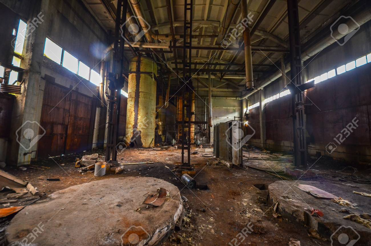 The Abandoned Chemical Plant (Former Soviet Union) In Ufa. Abandoned ... for Abandoned Factory Russia  103wja