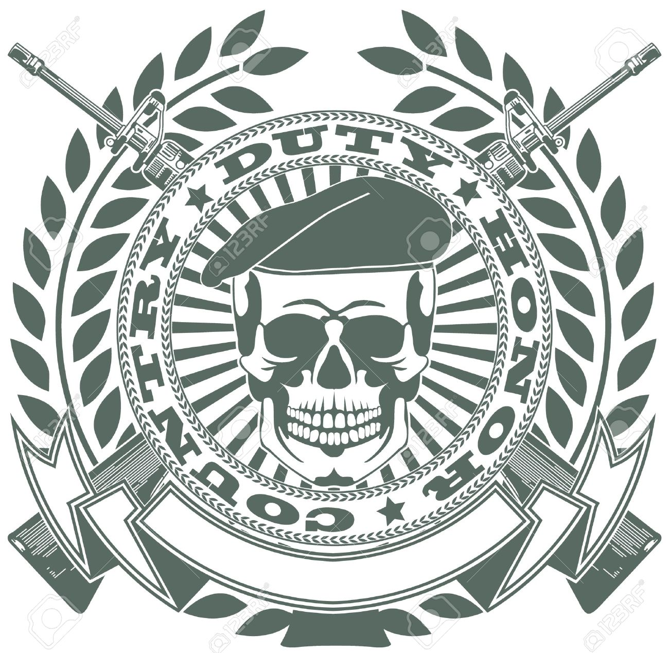 Army Crest Vector The Vector Image Army Symbol