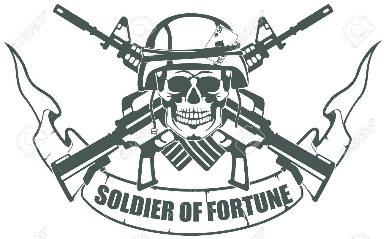 The vector image Soldier of Fortune - 14254014