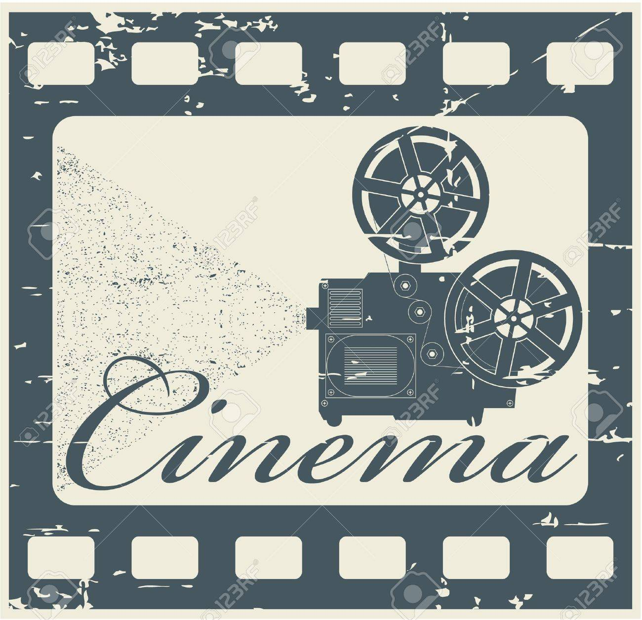 The vector image stamp cinema - 14483570