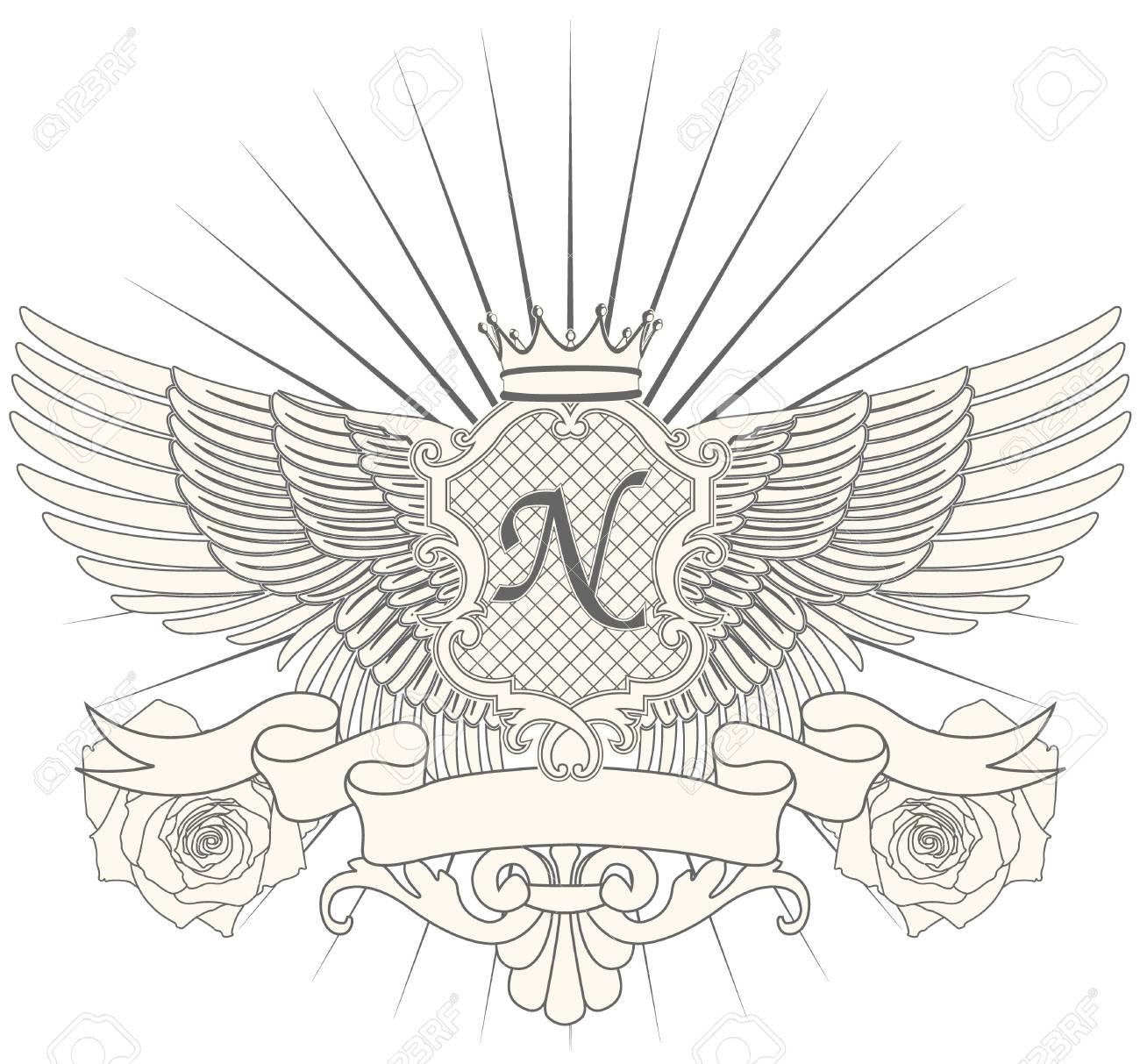 The vector image Heraldic symbol Stock Vector - 15285293