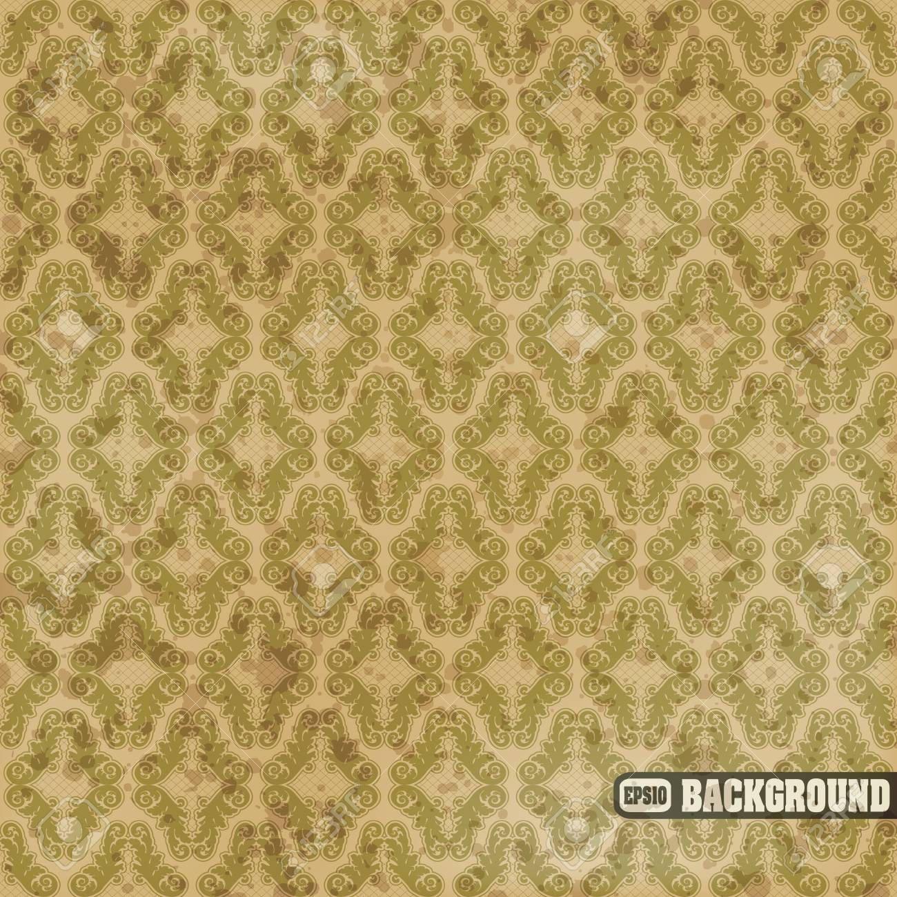 image of color Seamless floral pattern in vintage style Stock Vector - 16435492