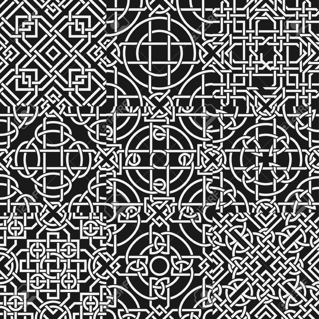 The vector image Set of celtic seamless pattern Stock Vector - 21802361