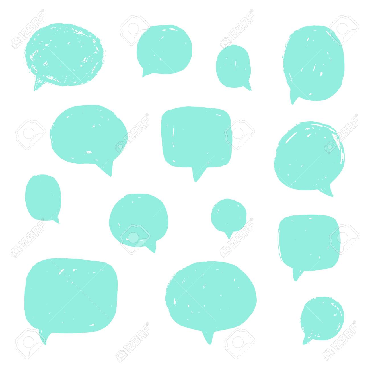 set of speech bubbles with old grunge texture vector hand drawn rh 123rf com grunge texture vector download grunge texture vector ai