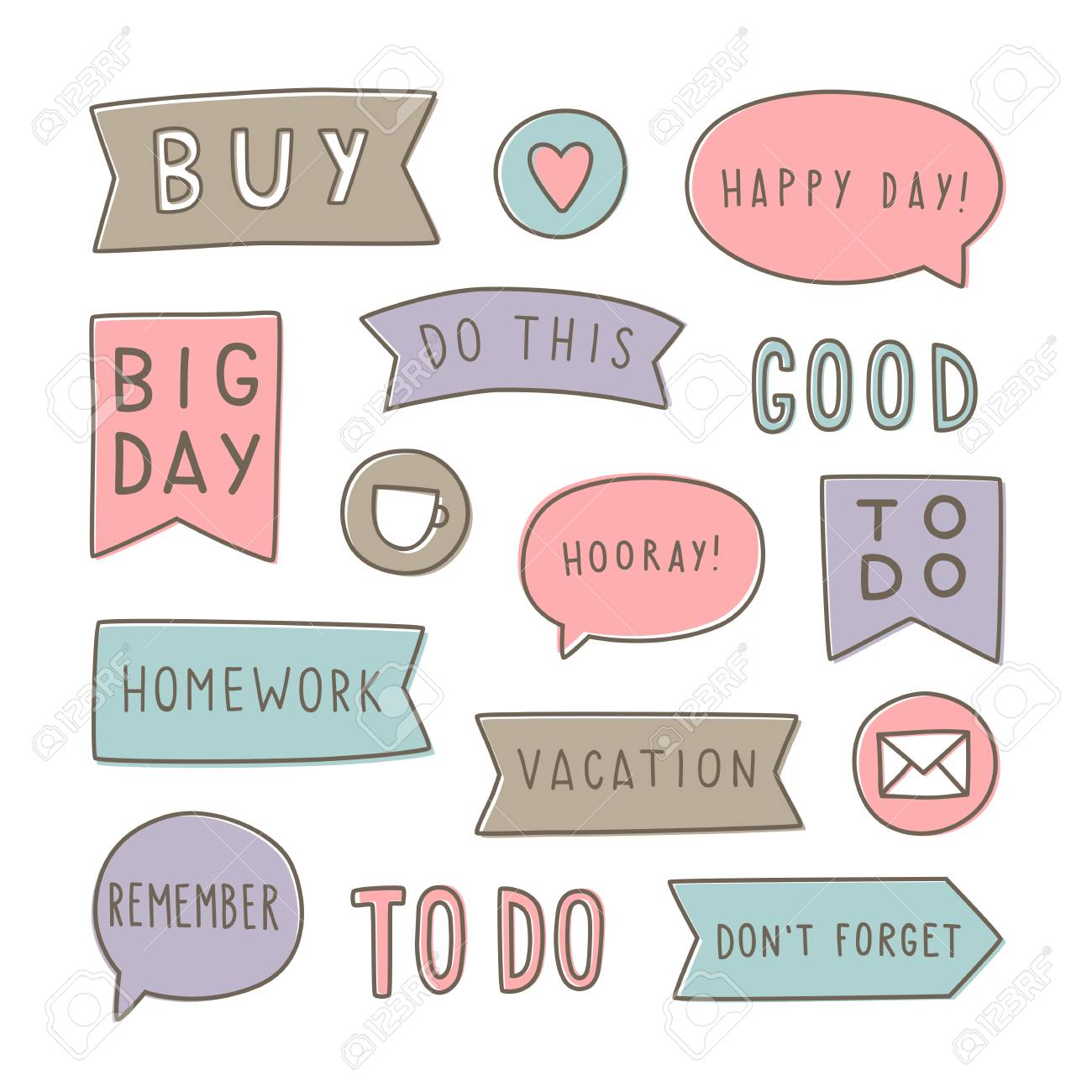 image relating to Stickers Printable referred to as Fastened of coming up with stickers. Can be utilized for your planner. Printable