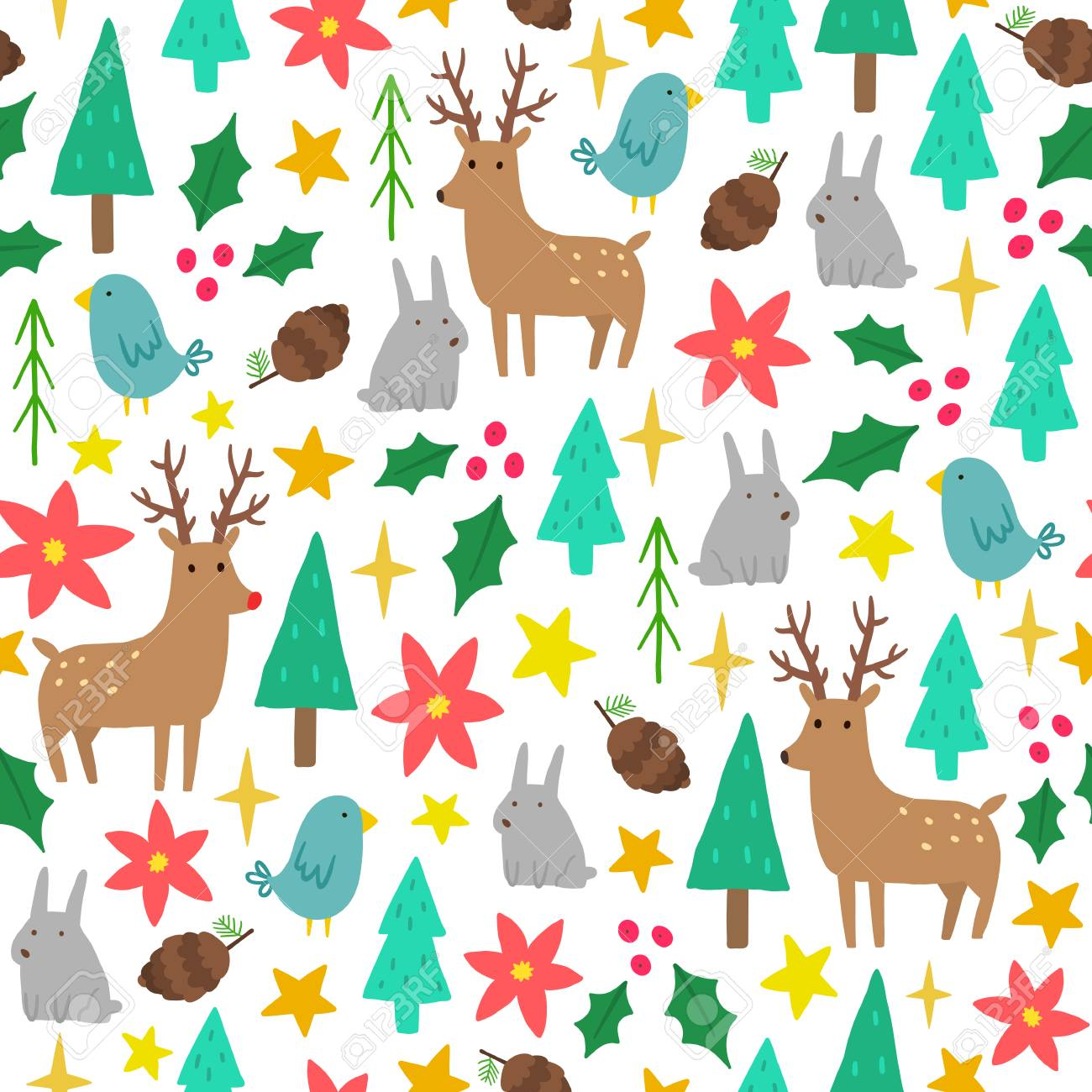 cute cartoon christmas background vector hand drawn seamless stock photo picture and royalty free image image 89429598 cute cartoon christmas background vector hand drawn seamless