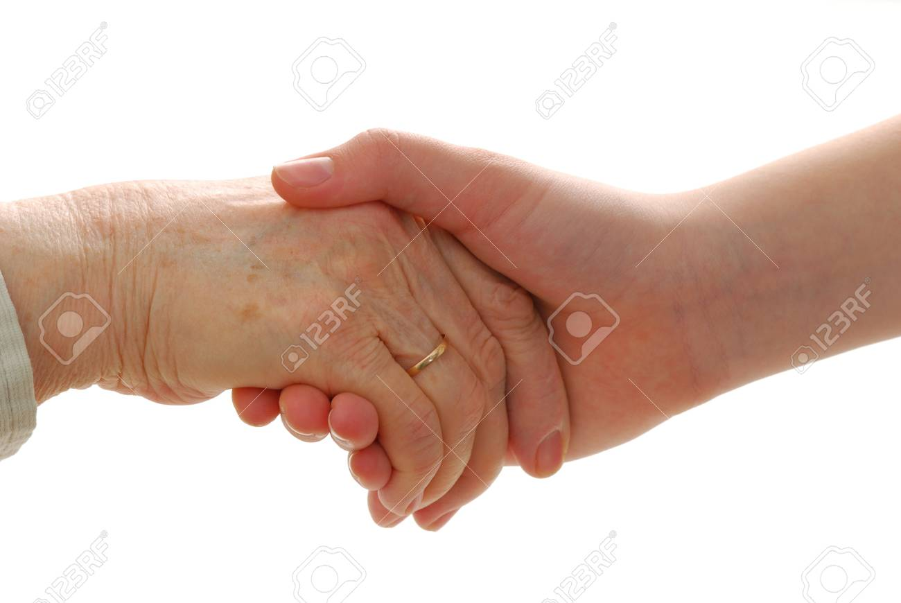 Younger hand is helping older hand Stock Photo - 4369570