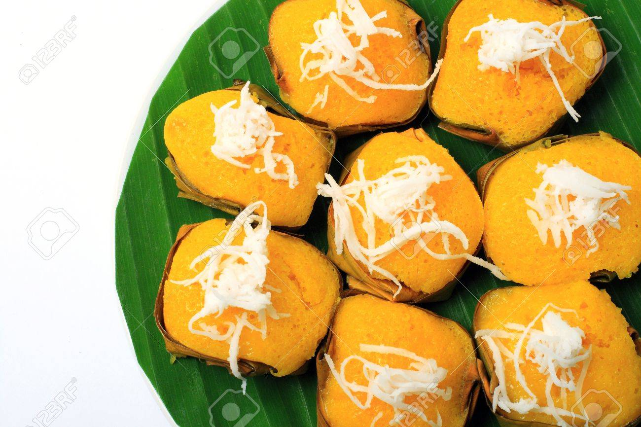 Dessert Thai sweet sugar palm cake with coconut Stock Photo - 10795975