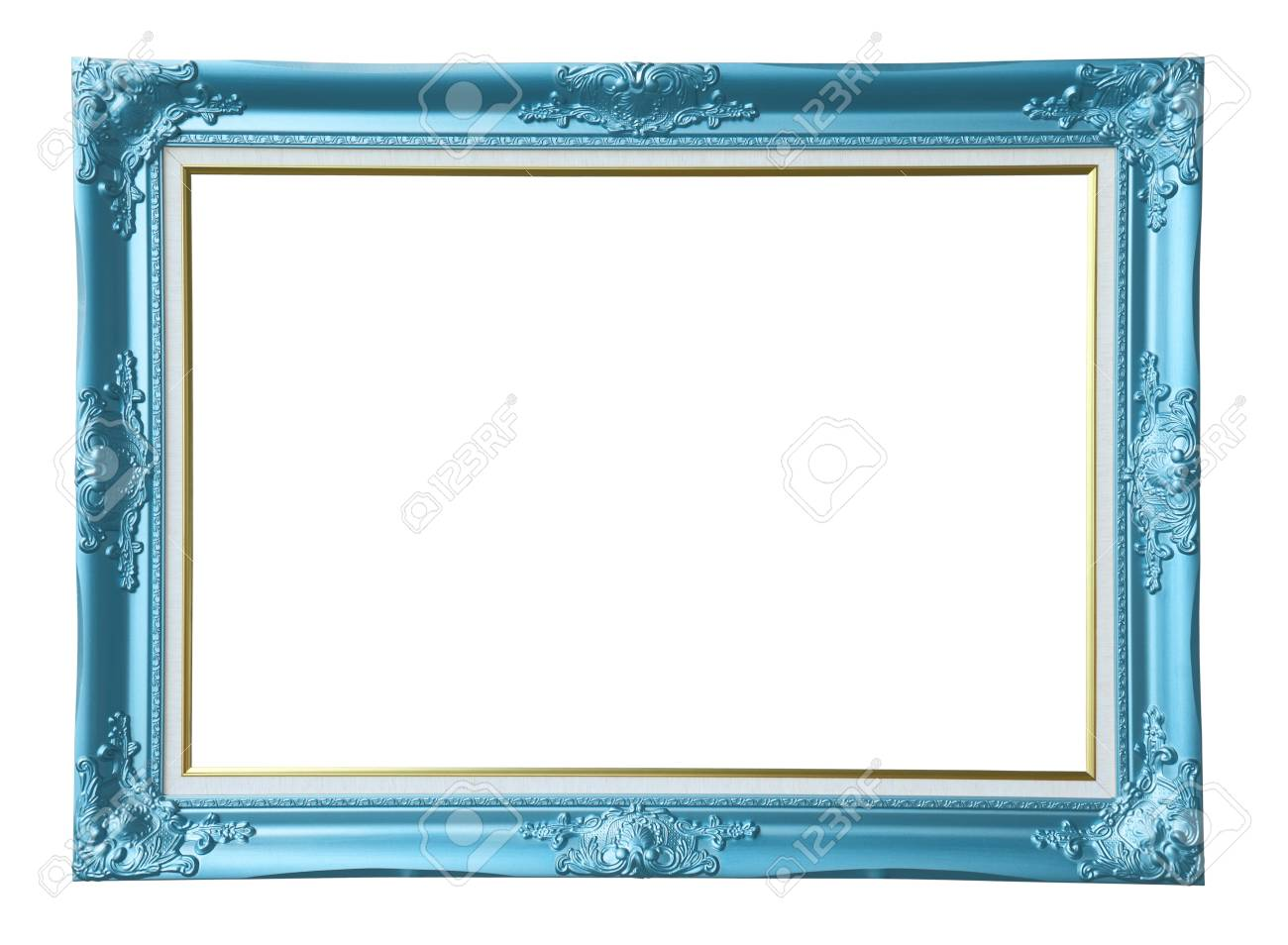 Copper-blue Vintage Photo Frame, Stock Photo, Picture And Royalty ...
