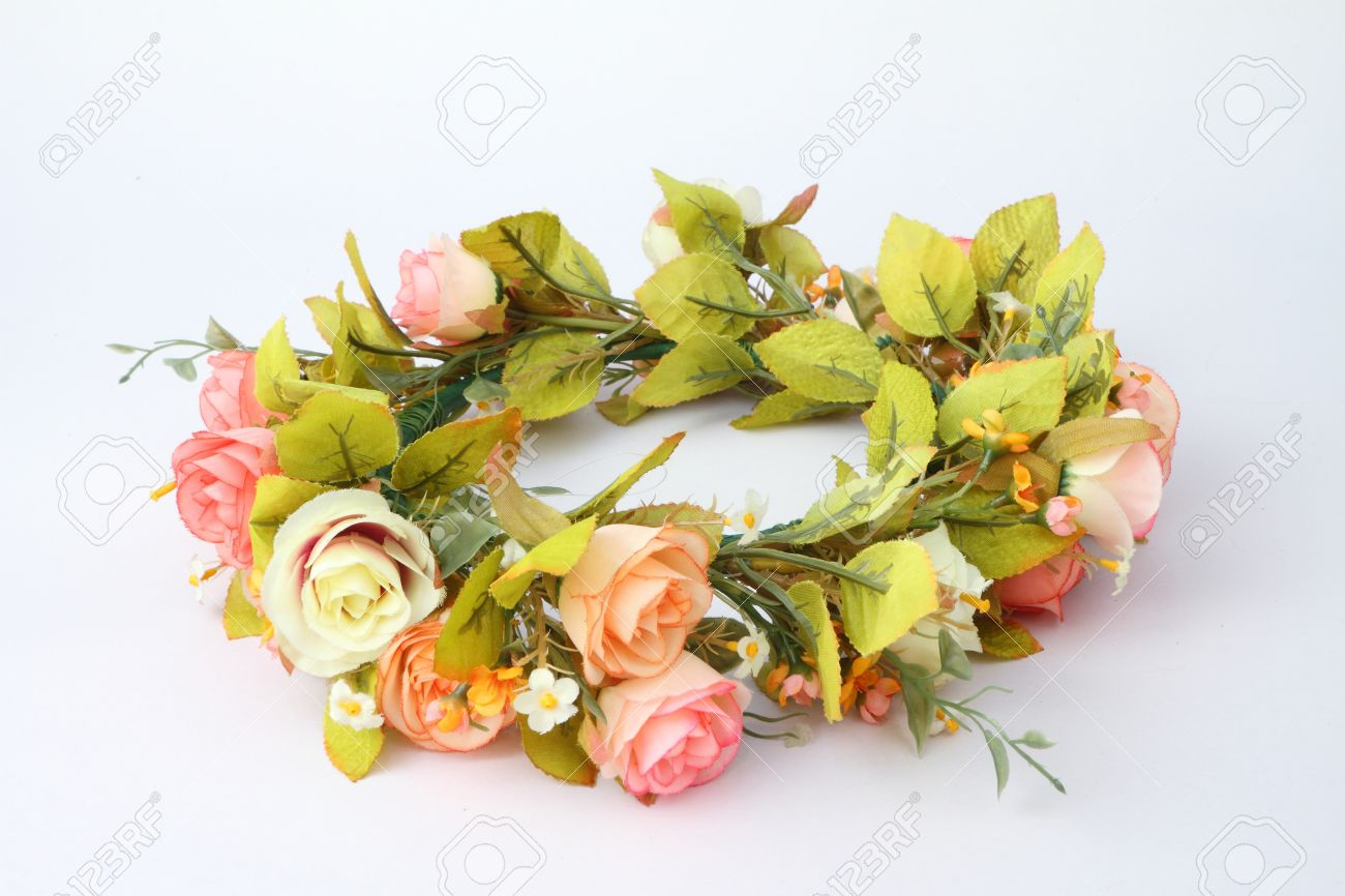 Forest coronal or colorful fake flower crown isolated on white forest coronal or colorful fake flower crown isolated on white background stock photo 25099327 izmirmasajfo