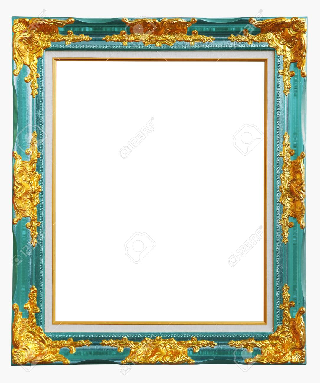 Copper Blue Louise Photo Frame Over White Background , Clipping ...