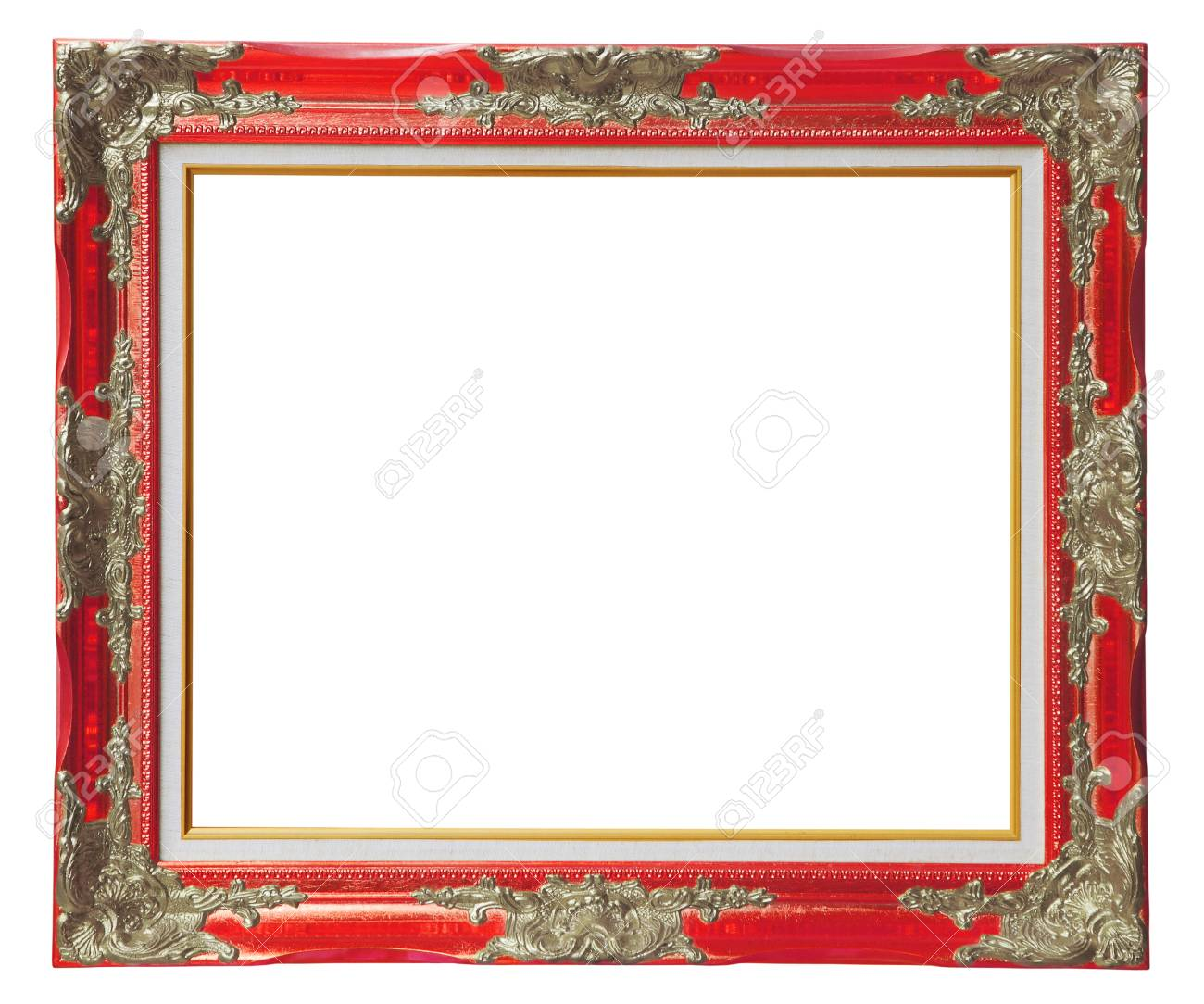 Copper Red Louise Frame Over White Background , Clipping Path Stock ...