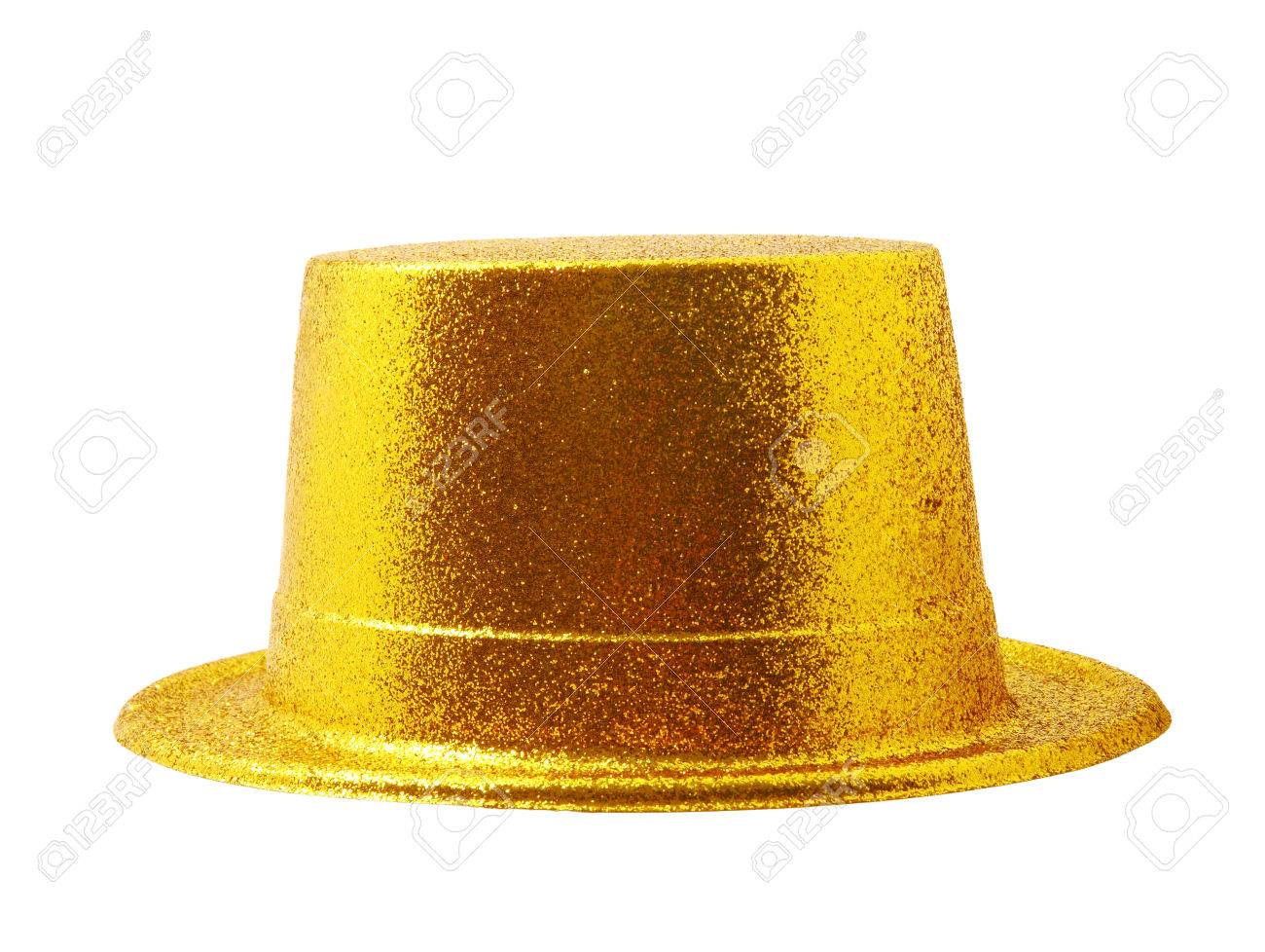 dde85876 Stock Photo - Yellow party hat isolated on the white background, clipping  path.